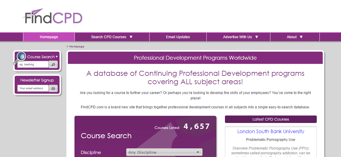 Find Continued Professional Development
