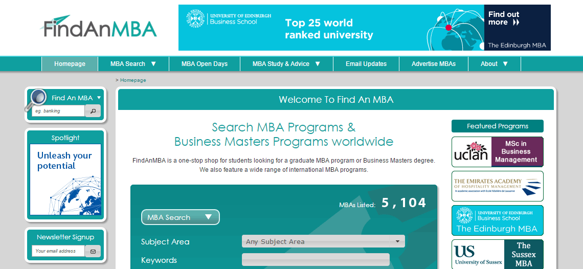 Find An MBA