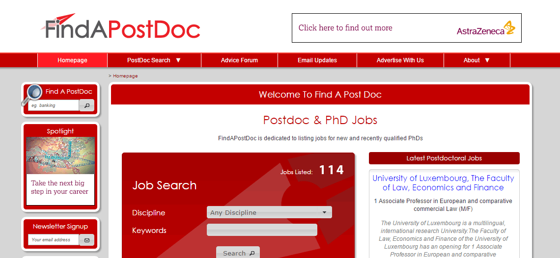 Find A Post Doc